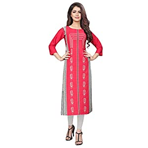 1 Stop Fashion Women's crepe Straight Kurta