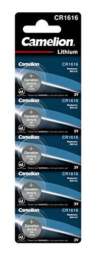 Camelion CR1616 Lithium Knopfzelle 3V Batterie, 5 Einheiten