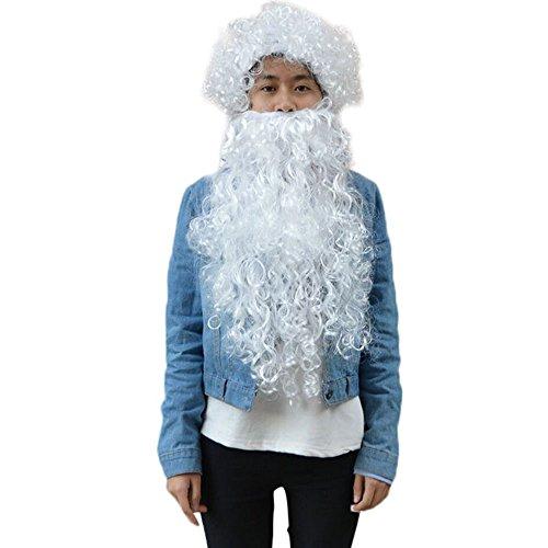 Perücke Für Santa Bart Und Perücke Set Weihnachten Weihnachtsmann Kostüm Cosplay Perücke Urlaub - Weihnachtsmann Set Perücke Kostüm