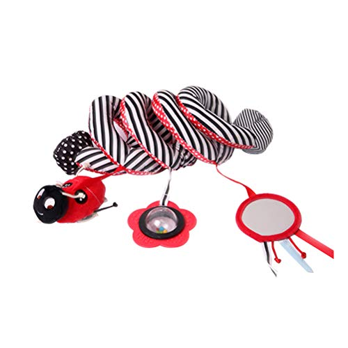 STOBOK Baby Spiralverpackung Um Krippe Bett Stubenwagen Schienenwagen Spielzeug mit Bell Niedlichen Käfer Marienkäfer Hängen Komfort Spielzeug