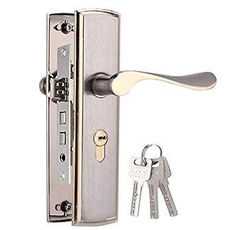 dometool Reino Unido deslizante tirador de puerta cerraduras llave privacidad puerta seguridad ba/ño cromado puerta cerraduras con llaves