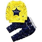 Googo Gaaga Boy's Cotton Full Sleeves Sweatshirt with Pant Set in Yellow Color