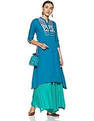 Amazon Brand- Myx Women's Asymmetrical Hemline Kurta