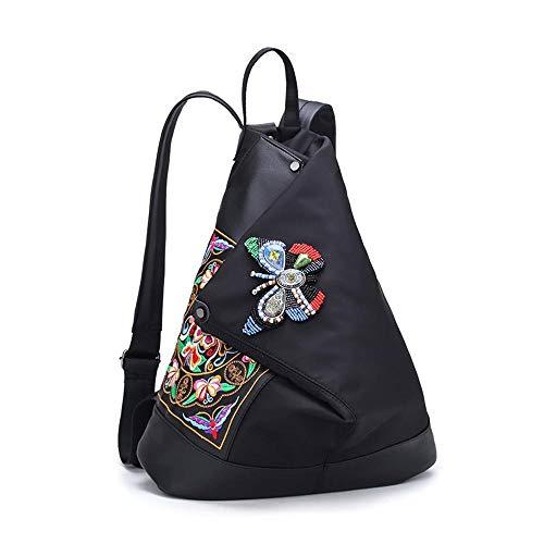 WWAVE Handtaschen für Damen Nylon Rucksack Tasche Bestickt Damen Tasche Butterfly Zubehör -
