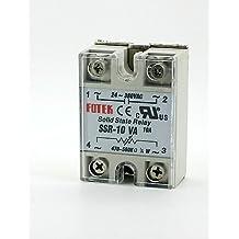 DZXGJ® fotek resistencia ajustable monofásico relé de estado sólido SSR-10VA 10a 24-380V ac