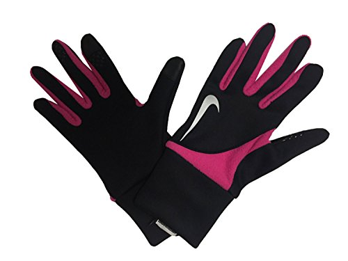 Nike Women's Element Solid Thermal Touch Screen 2.0 Run Gloves Black/Pink Small Nike Womens Thermal