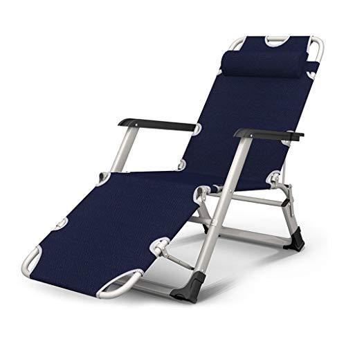LAZ Schwerelosigkeit Recliner Stühle Patio Lounge Chair Blue Klappbett Übergröße mit gepolsterten verstellbaren Recliner Unterstützung £ 350 (Color : A)