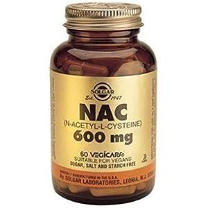 41M0FQPLw6L. SS300  - Solgar NAC (N-Acetyl-L-Cysteine) 600 mg Vegetable Capsules - Pack of 60