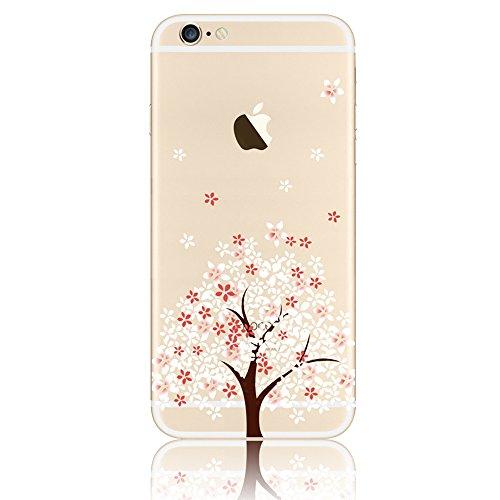 Coque iPhone 6s Coque Apple iPhone 6 Silicone Transparente Rigide Motif Etui Housse TPU Souple Sunroyal® Ultra-Light Ultra-Mince Case Cover de Protection Pare-Chocs Anti-Choc Bumper pour iPhone 6 6s ( Motif 18
