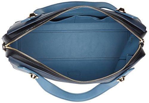 Gaudì Top Handle Bag Linea Angelica, Borsa a Mano Donna, 35 x 23 x 14 cm (W x H x L) Blu (Dk Blue)