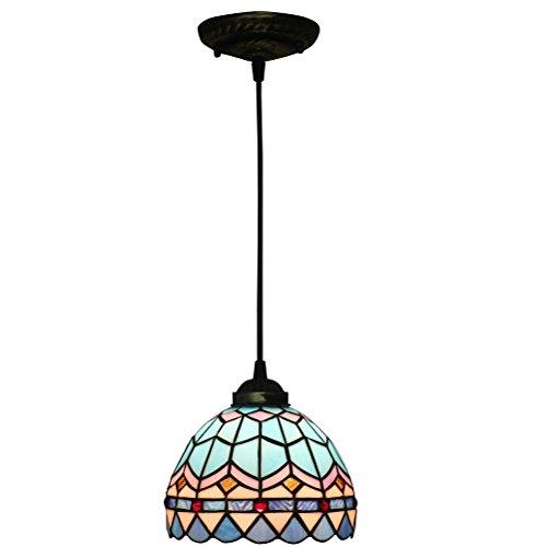Fabakira 8 pollici lampadari vintage stile tiffany antico pastorale di invertito soffitto lampadario a sospensione light fixtures per soggiorno pranzo camera da letto