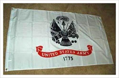 3x 53Ft X 5ft Weiß US Army Offizielle Logo Doppelseitig Zweilagig Flagge Banner Tüllen -