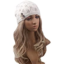 Pixnor Las mujeres Beanie gorro lana punto caliente de invierno SKI  Snowboard hojas salida hueco de 05dc12b4faf