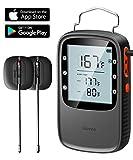 Govee Grillthermometer, Bluetooth BBQ Thermometer Digitales Ofenthermometer mit 2 Edelstahlsonden, Magnetisches Design für Grillen, Küche