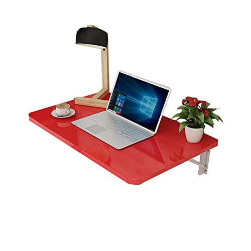 ZYOUXIU Hängender Aufbewahrungstisch/Schreibtisch, Laptop-Ständer Zusammenklappbarer Wandtisch, Schreibtisch Arbeitszimmer Mehrfarbig Optional Mehrgrößen Optional, Rot, 80 x 50 cm