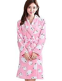 a12bcae294 Betrothales Warm Weich Schaf Schlafanzug Sleepwear Bademantel Nachthemd  Coral Nachtwäsche Pyjamas Bademantel Dekoration Spa…