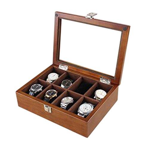 Luxus-Holz-Uhren-Box 8-Slot-Uhren Aufbewahrungsbox Juwelen Display-Geh?use - Holz-uhr-schmuck-box