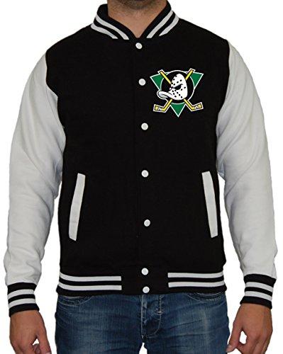 Artshirt-Factory Mighty Ducks Jacke (XXL, Schwarz/Weiß) -