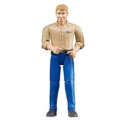Bruder 60006 - Minifigur - bworld Mann mit hellem Hauttyp und blauer Hose von Bruder