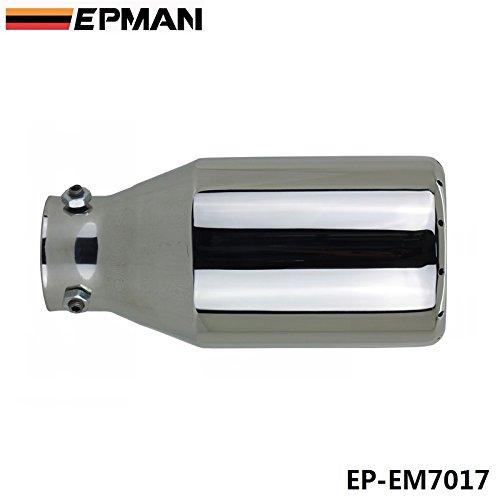 Epman 1PC calibro 6.1cm universale cromato 304in acciaio INOX cromato tubo di scarico ep-em7017
