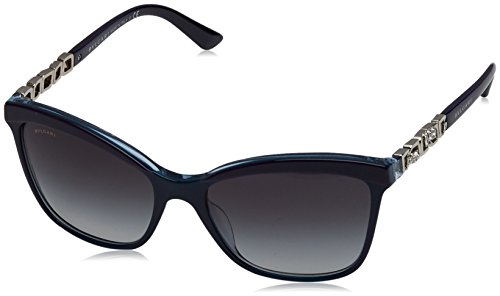 Bulgari Unisex-Erwachsene 8163 Sonnenbrille, Mehrfarbig (Top Violet/bluee/crystal), 56