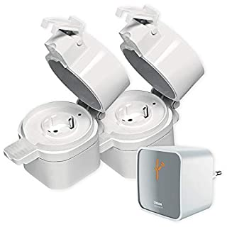 Starter Set OSRAM SMART+ Außensteckdose IP44 Lightify Alexa kompatibel + Gateway Auswahl 2er Set
