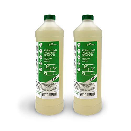 Bio-Chem Algen-Stop Super-Sparpack 2X 1000 ml Algen und Grünbelag Entferner + Druckpumpzerstäuber blau