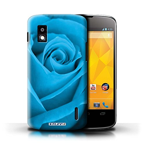 Kobalt® Imprimé Etui / Coque pour LG Nexus 4/E960 / Pourpre conception / Série Rose Bleu