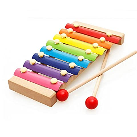 IHRKleid Xylophone 8-Notes Clavier Musical Instrument (Multicolor)
