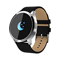 BingWS Activity Trackers Bluetooth Pedometer Smart Bracelet Color Screen Fitness Wristband Waterproof Sports Smartwatches with Heart Rate Monitor Smartwatches (Color : D)