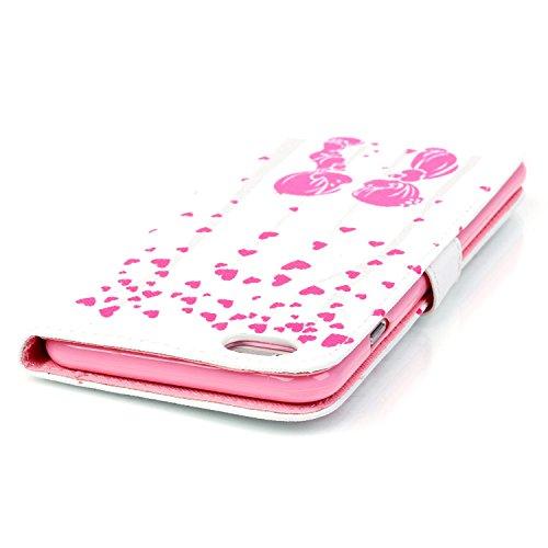 MOONCASE iPhone 6S Plus Coque, [Lovely Cartoon] Bookstyle Portefeuille en Cuir Housse de Protection [Béquille] Étui à rabat Case pour Apple iPhone 6 / 6S Plus (5.5-pouce) YH04