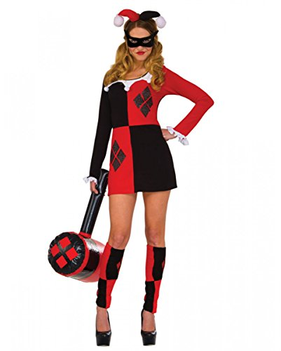 Horror-Shop DC-Comics Harley Quinn Mini-Kostümkleid für Cosplay & -