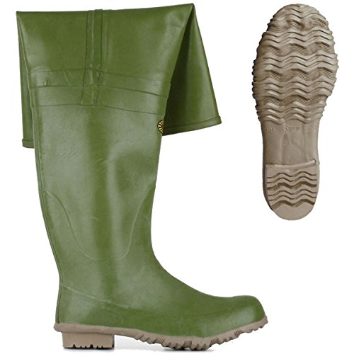 Stivali in gomma - 7566-rbrm (multicolor - Olive)