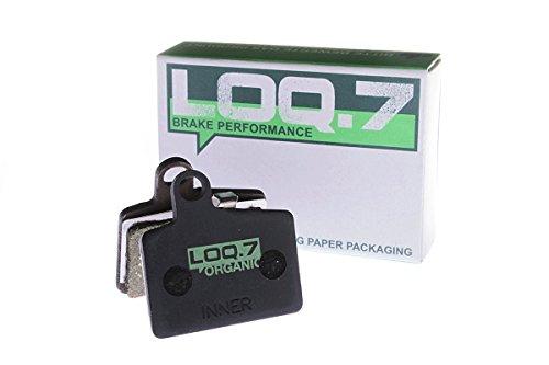 Hayes Stroker Ryde Comp, Dyno, Radar Bremsbeläge der Marke LOQ.7 - organisch - High Performance Scheibenbremsbeläge für den Einsatz an hydraulischen Fahrrad MTB Mountainbike Bremsanlagen - absolut plastikfreie Verpackung