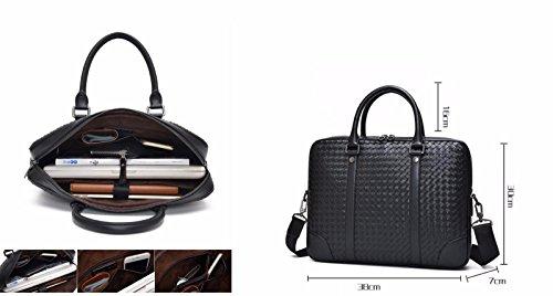 Everdoss Aktentasche Herren Laptoptasche Arbeitstasche Bürotasche Collegetasche Business Fashion Schwarz