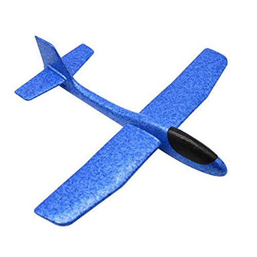 Insense Toy Airplanes Aircraft Model, Light Weight Durable Hand Throw Inertia EPP Foam Glider Plane with Good Flexibility and Impact Resistance Aircraft (Blue)