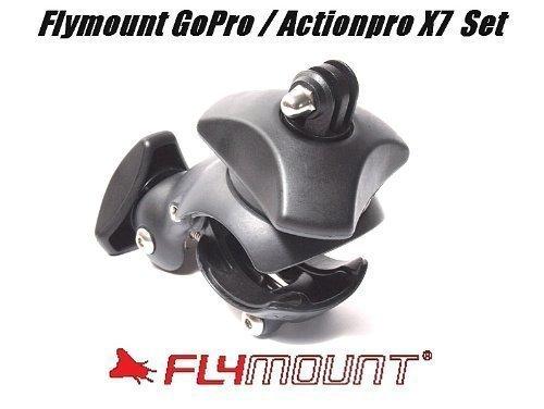 Flymount Generazione 4 incl. Adattatore Tipo 2 per GoPro Hero e Actionpro X7 Actioncam, Fly Supporto