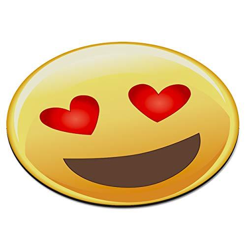 Diseño de frases de amor para formar los ojos de cara sonriente cojín redondo con forma de ordenadores de sobremesa para tejer diseño de corazón con ratón - alfombrilla PARA carcasa