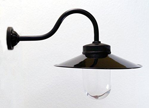Außenleuchte nach historischem Modell Gartenlampe Hoflampe Außenlampe Landhausstil Modell Kaprun schwarz