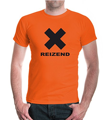 buXsbaum® T-Shirt Reizend Orange-Black