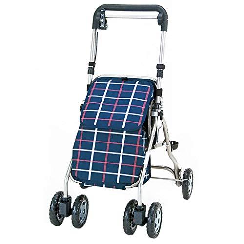 ZXL Standardwanderer \\u0026 Gehhilfen Walker Senioren Warenkorb Einkaufswagen Gehhilfe Hilfswagen Leichtes ZusammenklappenKann Trainingsgeräte für die Rehabilitation der unteren Extremitäten sit