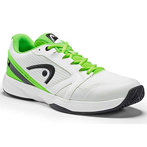 HEAD Herren Sprint Team 2.5 Men Tennisschuhe, Weiß (White/Neon Green Whng), 46 EU - Herren Indoor Court Schuhe