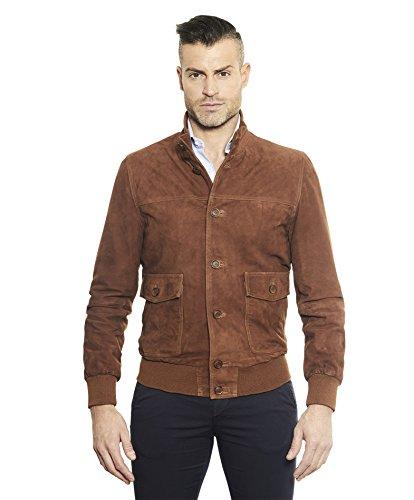 giacca pelle scamosciata