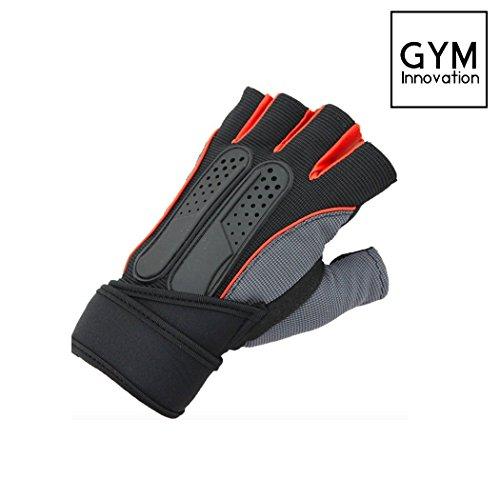 Gym Bike innovazione guanti da allenamento Guanti per fitness e sport, nero/arancione, XL