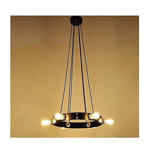 BJVB Edison coppetta in metallo rotondo appeso a soffitto lampadario in ferro rustico a sospensione sferica luce cucina Hoops