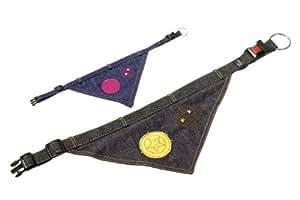 Karlie 64681 Collier-bandana pour chien en jeans Bleu 25 mm x 60 cm