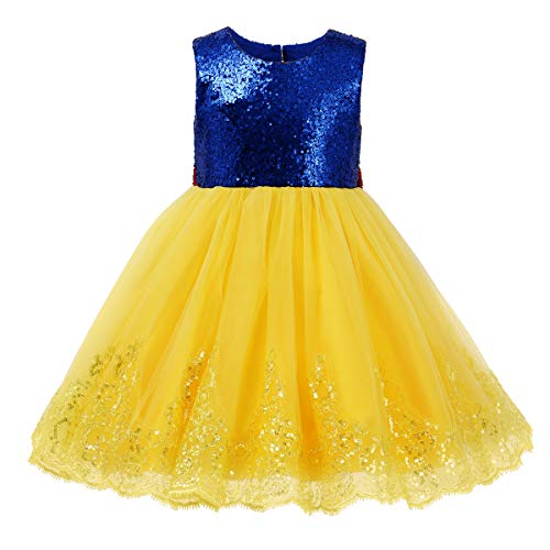 Disney Kleinkind Kostüm Aurora - Schneewittchen Kostüm Baby Mädchen Prinzessin Kleid Kleinkind Märchen Kostüme zu Karneval Fasching 3-4 Jahre