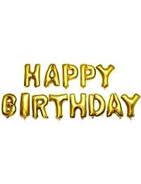 Reixus (TM) 13pcs Alphabet aluminium Ballons ¨¤ l'h¨¦lium HAPPY BIRTHDAY Foil Baloon Jouets pour enfants