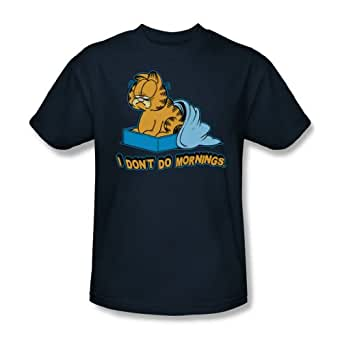 Garfield - - I Don't Do adultes Matin T-shirt dans la Marine, XXX-Large, Marine