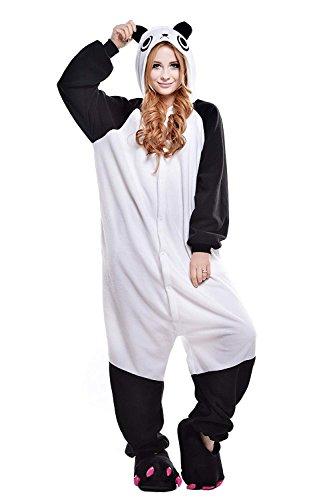URVIP Erwachsene Unisex Jumpsuit Tier Cartoon Fasching Halloween Pyjama Kostüm Onesie Fleece-Overall Schlafanzug Kung Fu Panda Medium